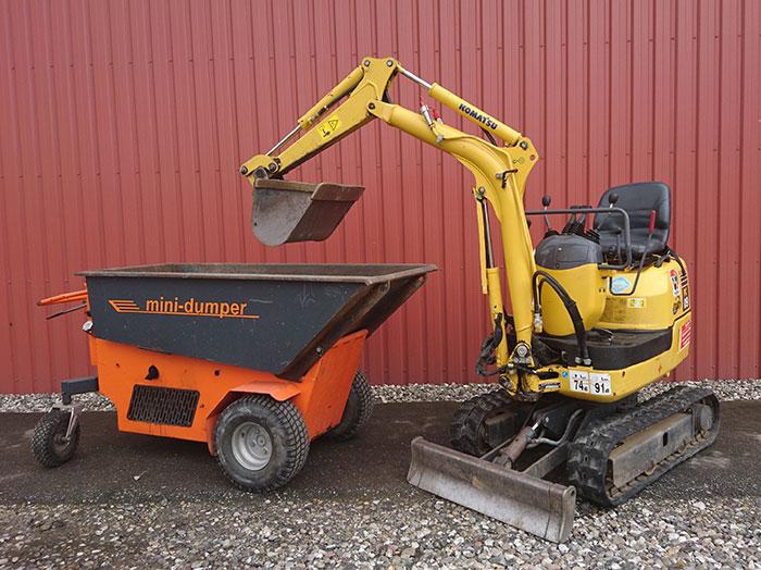Havemaskiner udlejning - Pakkeløsning - Minigraver og Motorbøre